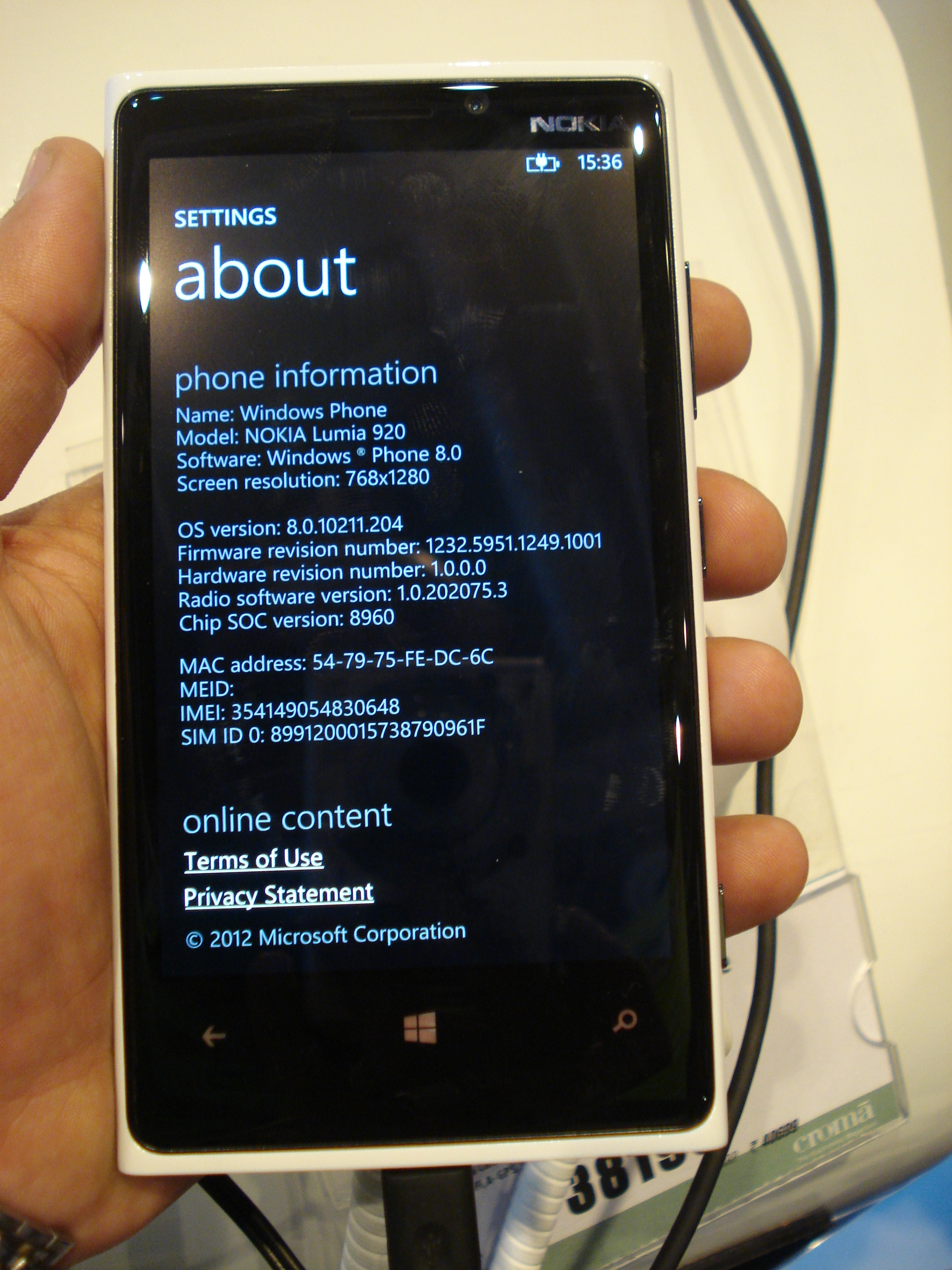 Nokia Lumia 920 Indian Version Comes With The Portico Update Pr 11 Touchscreen Dsc03314