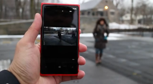 Microsoft Blink demoed on Nokia Lumia 920