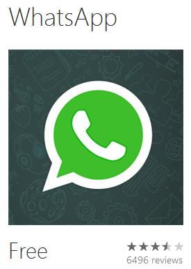 Whatsapp v 2.9.2 for Windows Phone