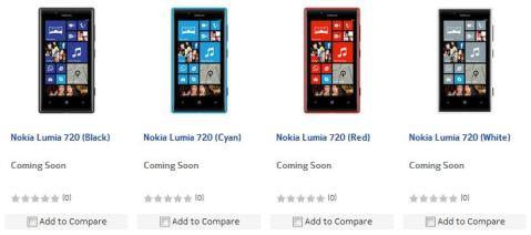 Nokia Lumia 720 launched in India listed at Nokia online shop
