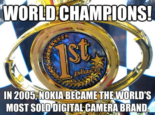 Nokia - the most sold digital camera brand in world
