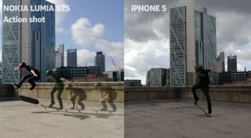 Nokia Lumia 925 vs Apple iPhone 5 Camera
