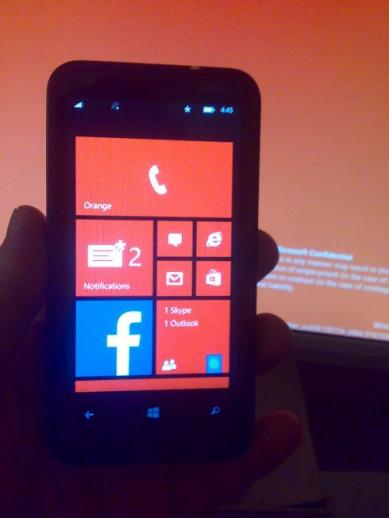 Lumia 620 running WP8.1 Blue update