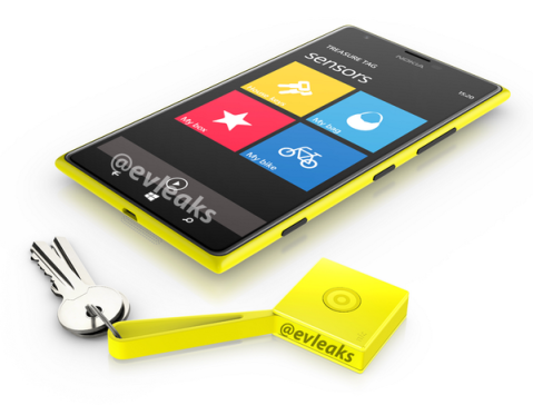Lumia 1520 with Nokia Treasure Tag