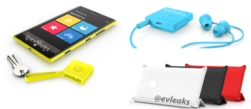 Nokia Guru, Nokia Treasure Tag and Lumia 1520 casings
