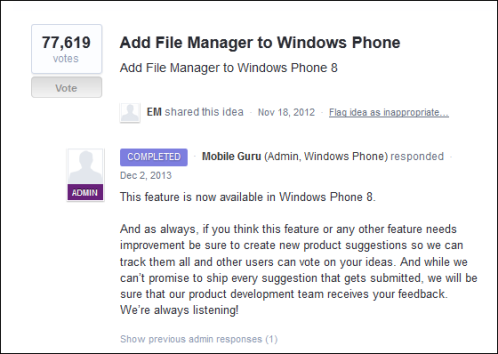 File Manager for Windows Phone 8