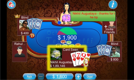 Teen Patti on Lumia Windows Phone 8