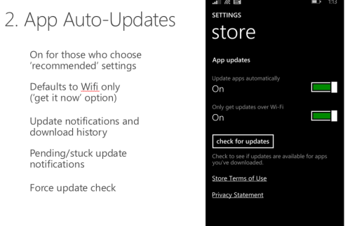 App Auto Updates Windows Phone 8.1