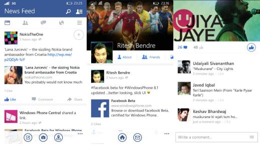 Facebook for Windows Phone 8.1