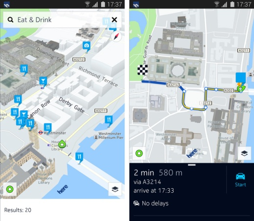 HERE Maps for Samsung Android devices image 1