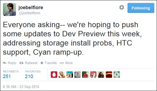 New Windows Phone 8.1 Developer Preview Update