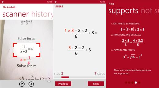 PhotoMath for Windows Phone 8