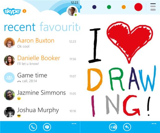 Skype v2.24 for Windows Phone