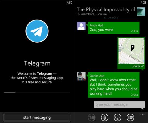 Telegram Messenger Beta for Windows Phone image 3