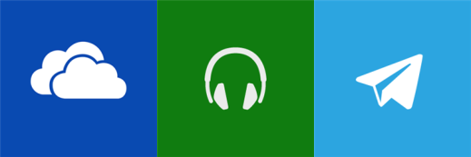 Telegram Messenger, Xbox Music and OneDrive for Windows Phone 8.1