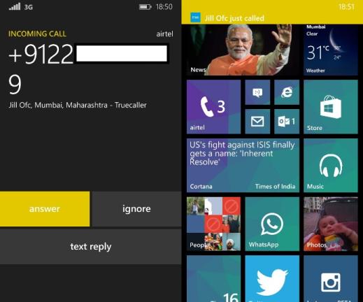 Truecaller Live Caller Id Windows Phone 8.1