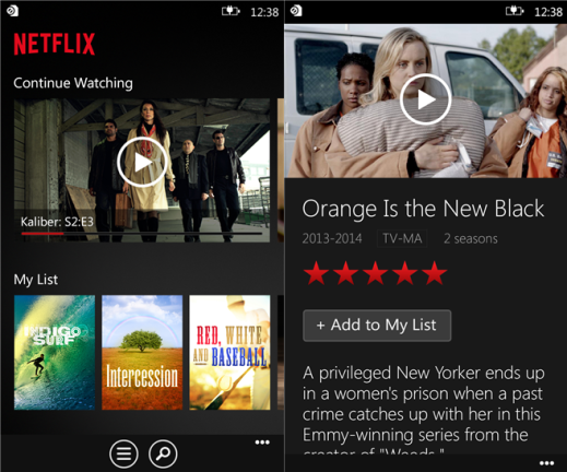 Netflix for Windows Phone image 3