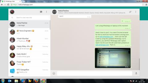 WhatsApp on Web Windows Phone