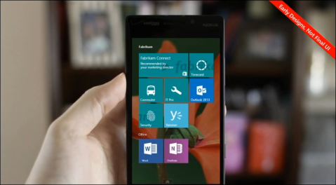 Windows 10 for Phone early UI