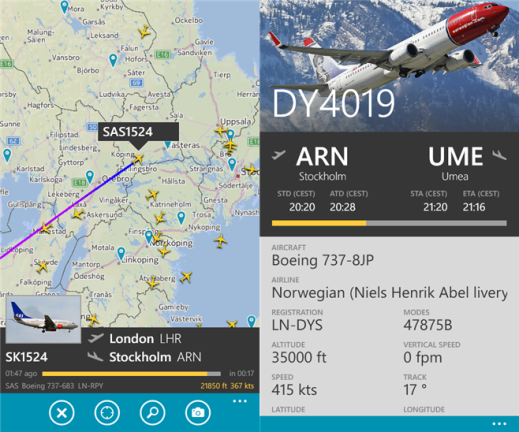 Track Flights in real time with 'Flightradar24' for Windows