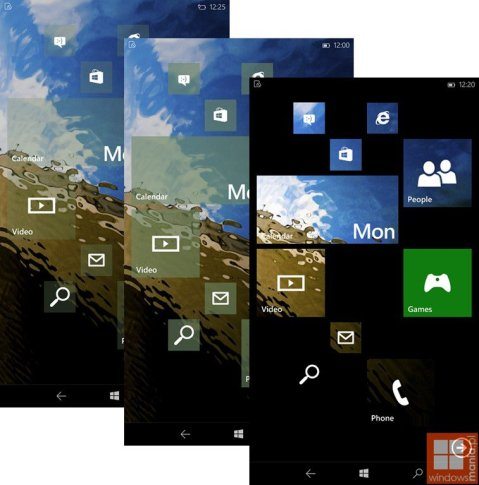 Windows 10 for Phone Tile Transparency options