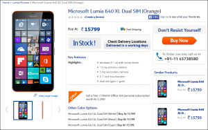 Buy Lumia 640 XL India