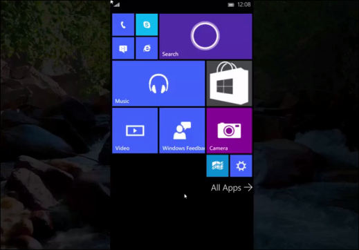 Windows 10 for Phone build 10069