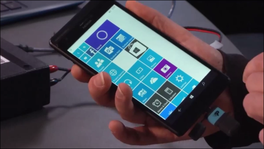 Windows 10 for Phone USB OTG demo